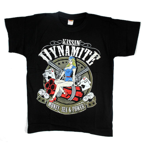 KISSIN` DYNAMITE - T-Shirt - Money Sex Power