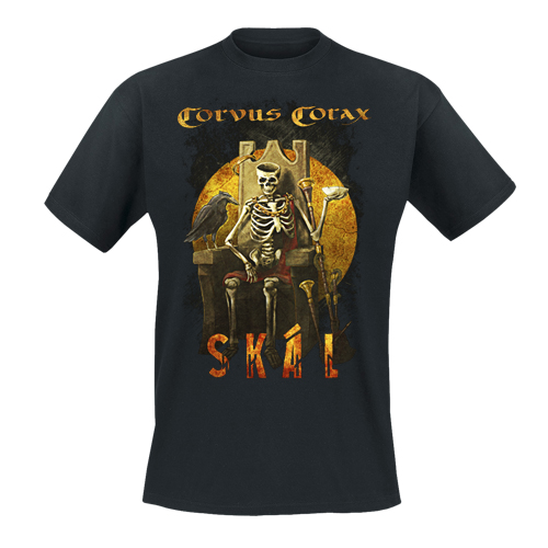 CORVUS CORAX - T-Shirt - Skal (Thron)